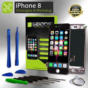 Display-LCD-fuer-iPhone-8-mit-RETINA-Glas-Scheibe-Komplett-Front-SCHWARZ-BLACK