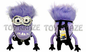 """Licensed Product Despicable Me 2 Plush Minion Evil 18/"""" Inch Backpack BRAND NEW"""