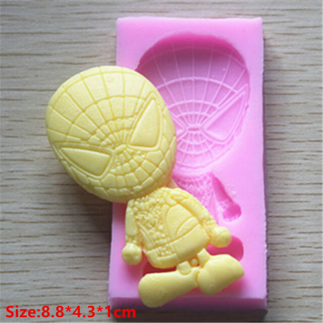 Spider Hero Silicone Cake Mould Fondant Sugar Craft Chocolate Decorating Tools*