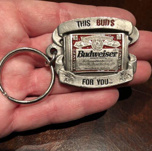 5 Lot Rare Vintage Budweiser Bud Light Keychain  Key Chain Beer Anheuser Busch
