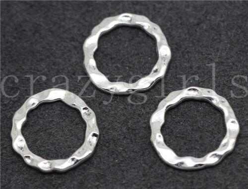 10//50//260pcs Tibetan Silver Beautiful handmade Annulus Charms Connectors 16mm