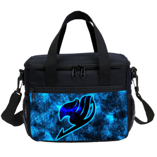 Magic Fairy Tail Anime Kids Big School Backpack Insulated Lunch Bag Pen Case Lot