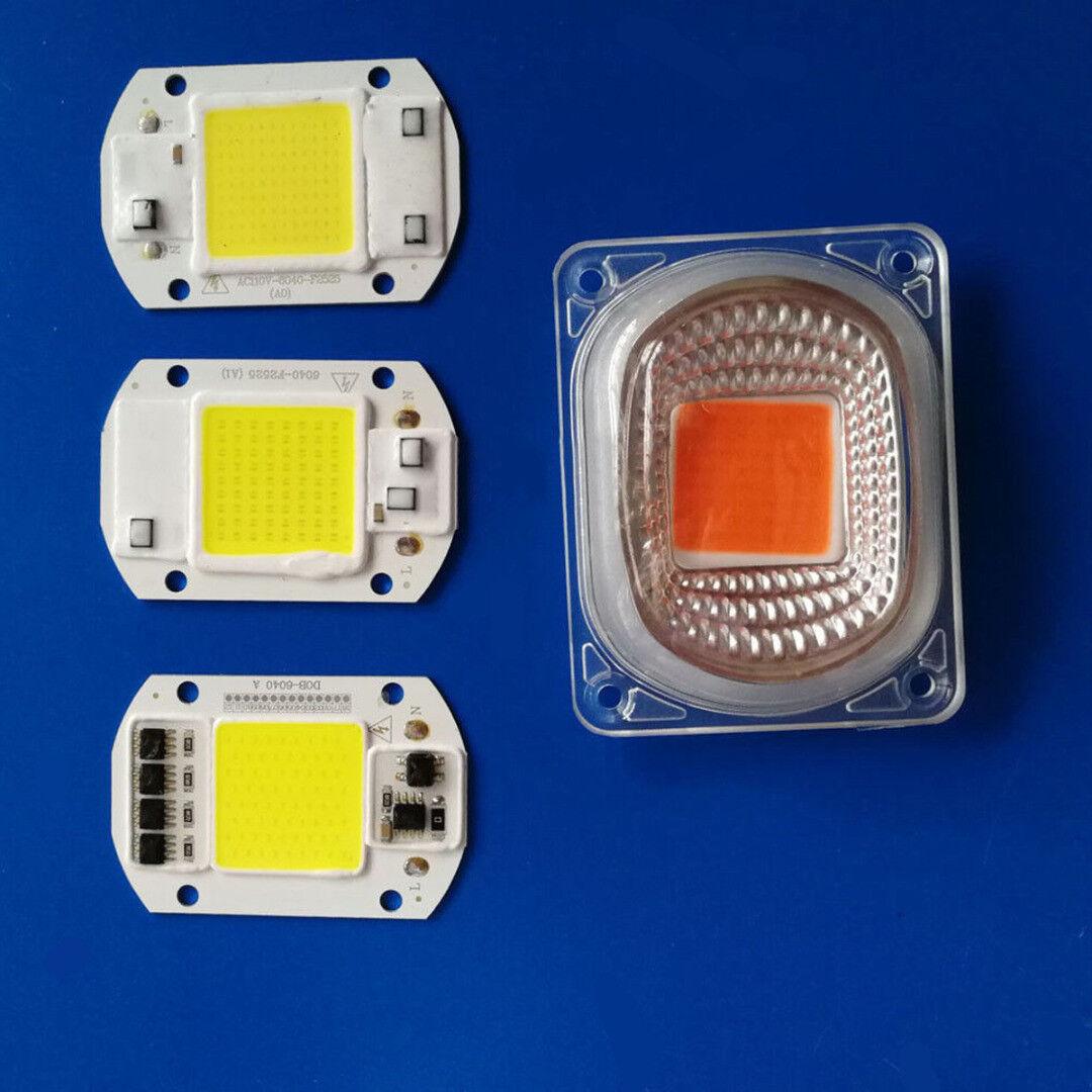 1set LED COB Chip Lens Reflector 230V 220V 110V 20W 30W 50W F LED Flood Light