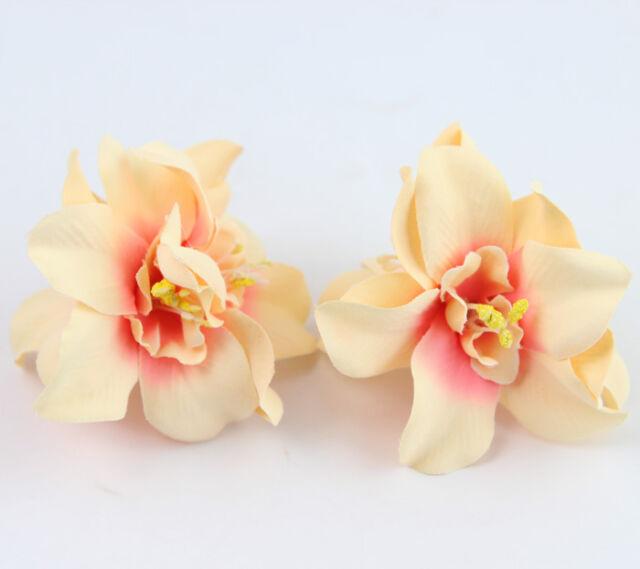 5Pcs Light Orange Artificial Flowers DIY For Wedding Floral Party Decoration