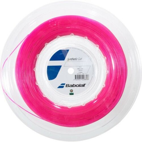 Babolat Synthetic Gut 1.30mm16G Pink Tennis String 200m Free UK P&P