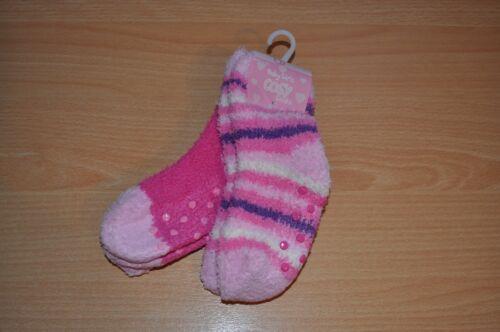 paquete de 2 Chicas Suave Esponjoso Antideslizante Pantufla Calcetines Varios Colores y Tamaños