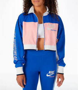 best authentic 345e1 c7a31 Image is loading Nike-Sportswear-Archive-Cropped-Women-039-s-Track-