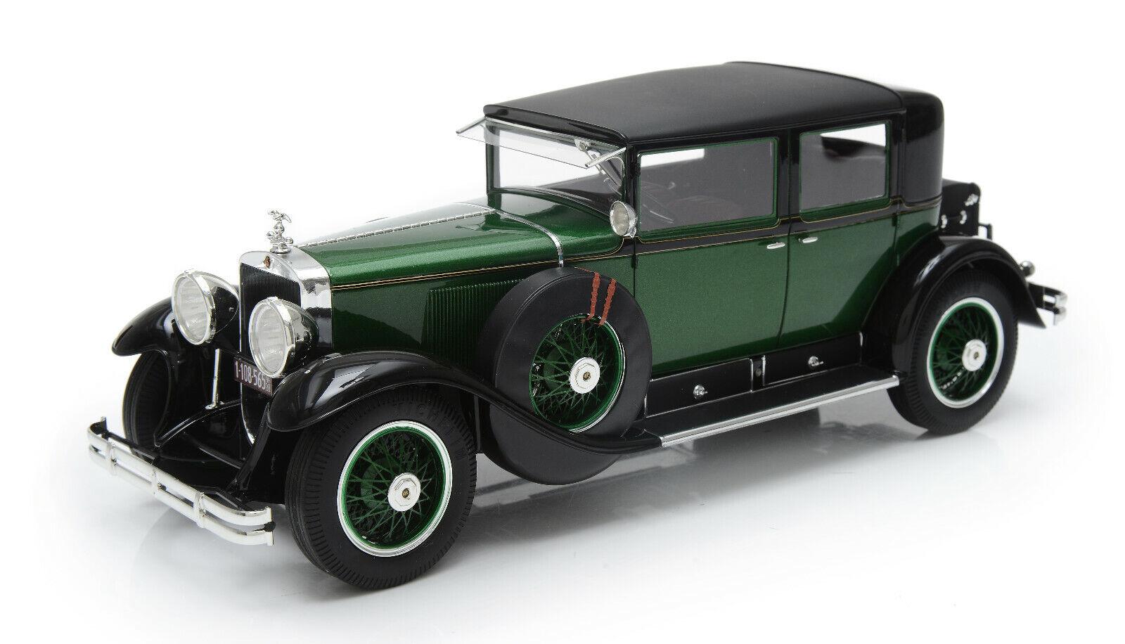 1 43 1928 Cadillac 341A ciudad Sedan verde Esval Modelos