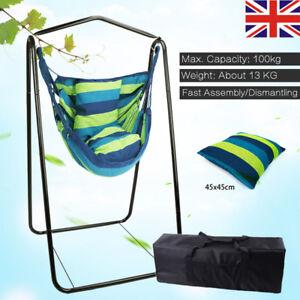 Image Is Loading Hammock Stand Outdoor Garden Steel Frame Seat