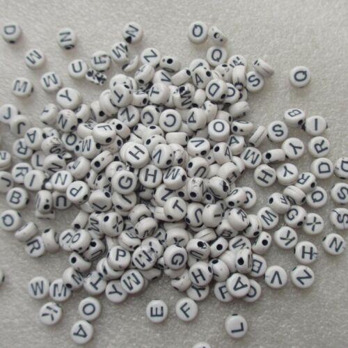 Carta de 1000 granos de acrílico blanco 7 X 4mm algunos defectuoso para Craft Joyería Haciendo