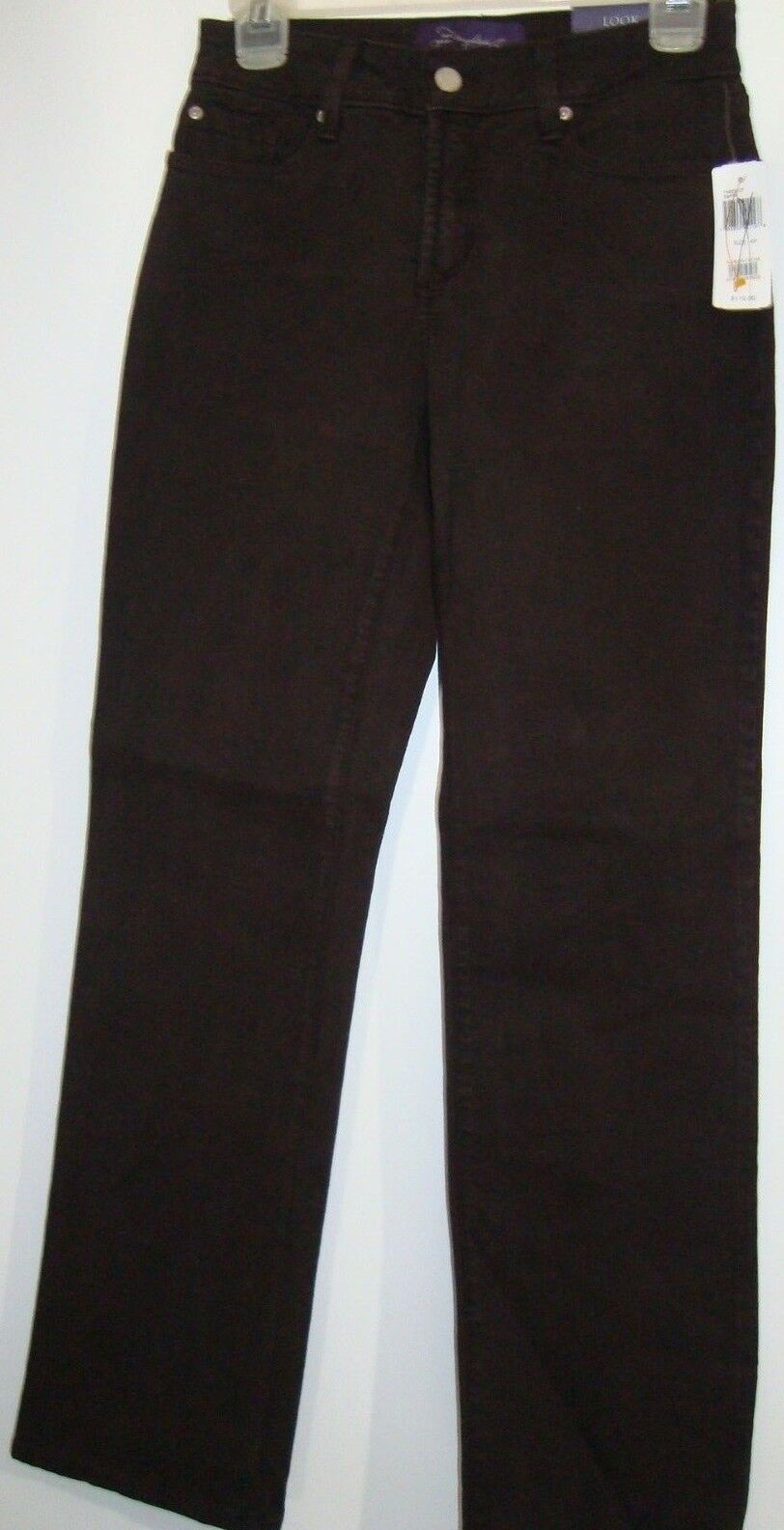 NYDJ WOMEN'S JEANS-SIZE 4P-BROWN COLOR-COTTON BLEND-FREE SHIPPING-BRAND NEW