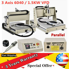 New Listing3axis 6040 1500w Cnc Router Engraver Woodworking Engraving Drill Milling Machine