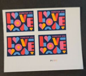 US-5543a-Love-imperf-NDC-PLATE-NUMBER-block-MNH-2021
