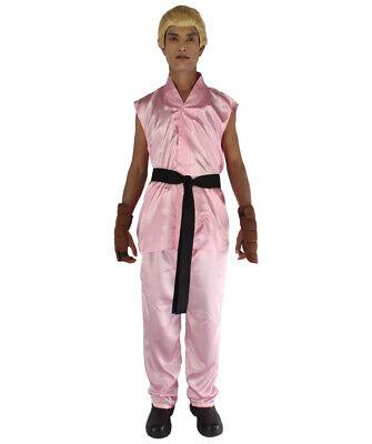 19 Colors Men/'s Cosplay Ken Karate Street Fighter Party Costume Tops Belt Pants