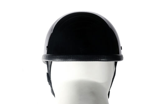 Motorcycle Helmet Sold Black w//Visor Chopper Biker Half Skull Cap Head Gear New