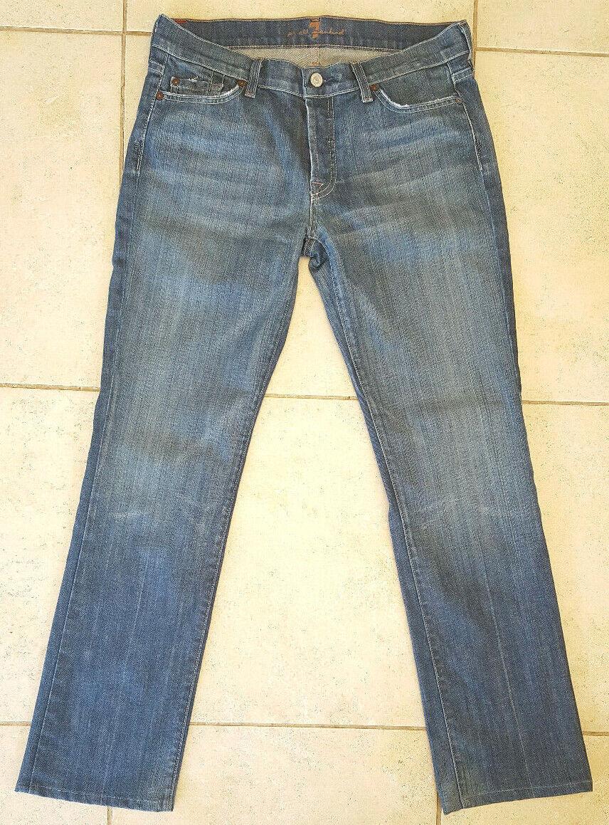 7  para Mankind Jeans-Azul-All 30-Casual-Mujer-Casual - Hecho en EE. UU. Denim Diseñador -  en promociones de estadios