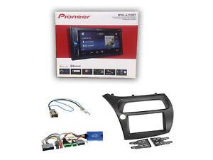 Pioneer-MVH-A210BT-Radio-2-DIN-Blende-LFB-Adapter-fur-Honda-Civic-VIII-ab-2006