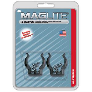 2 ASXCAT6 Maglite Noir universel supports de montage pour C-Cell Flashlight NOUVEAU