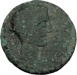 AUGUSTUS-27BC-Thessaly-Koinon-ATHENA-Authentic-Ancient-Roman-Coin-RARE-i47243