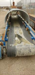 Heavy Duty Aggregate Roller Conveyor, 40 ft Long x 36W, Partly covered with feed hopper. Canada Preview