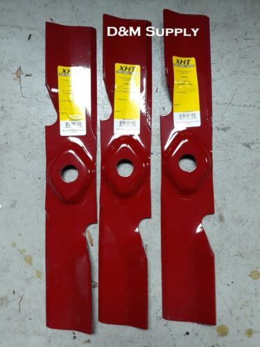 """Set of 3 XHT  50/"""" Lawn Mower Blades to fit Exmark 103-9605 103-9598 103-9601..."""