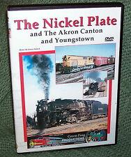 """cp001 TRAIN VIDEO DVD """"THE NICKEL PLATE"""" STEAM DIESEL VINTAGE FILM"""