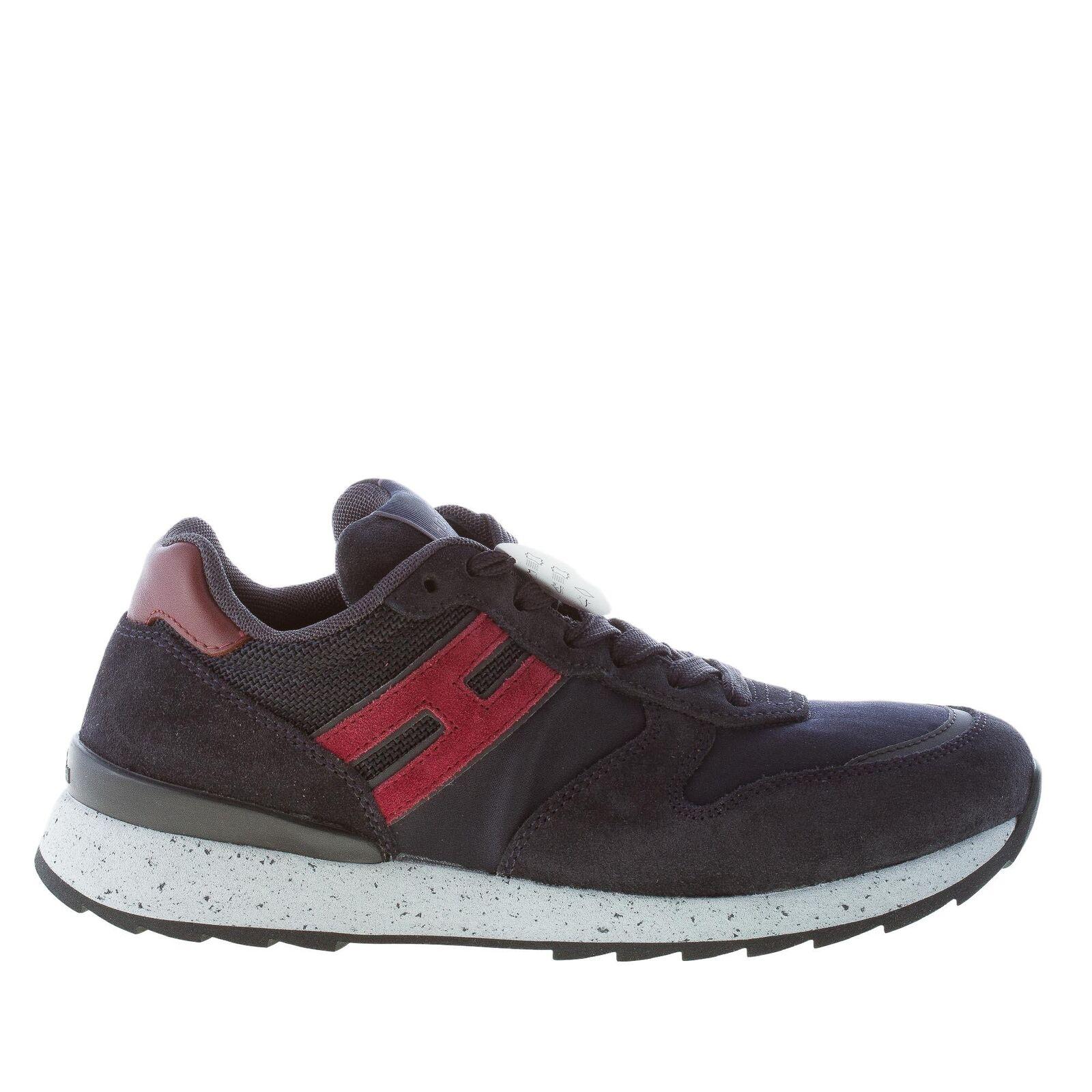 Hogan zapatos caballero running r261 r261 r261 azul de gamuza Tech-cortos tejidos 6edefd