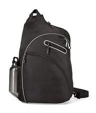 """Gemline Evolution 14"""" Laptop / MacBook Black Sling Bag"""