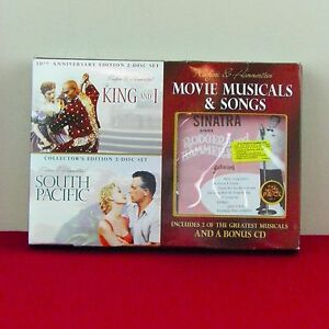 Rodgers-amp-Hammerstein-South-Pacific-King-amp-I-DVD-Set-Sinatra-CD-Musicals-Movies