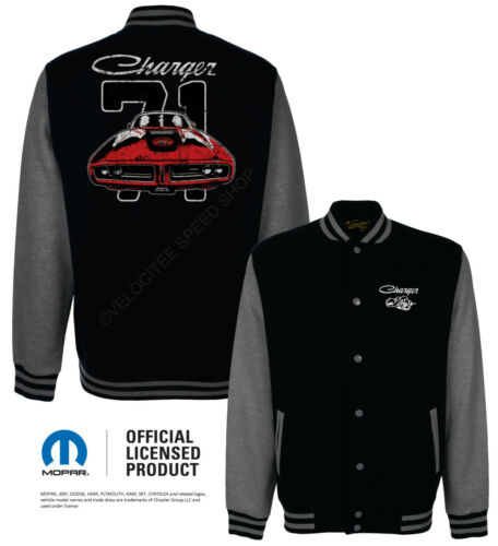 Dodge Baseball Varsity Jacket Licensed Classic 71 Charger Muscle Car A21141