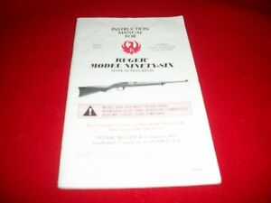 Ruger  Model Ninety-Six Lever Action Rifles Instruction Manual