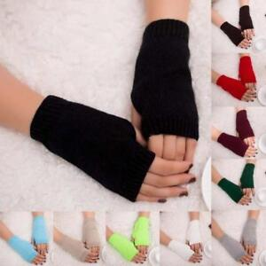 Women-Girl-Knitted-Arm-Fingerless-Warm-Winter-Gloves-Soft-Winter-Warm-Mittens