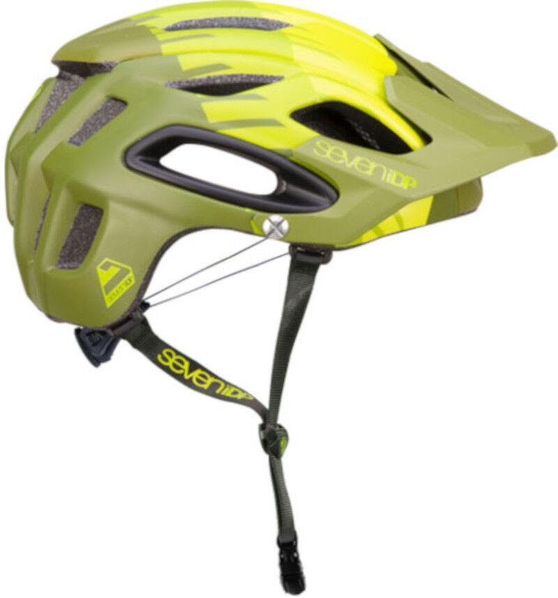 Seven 7iDP M2 MTB Bike Helmet Tactic 'Boa' Lime Mid Olive Green