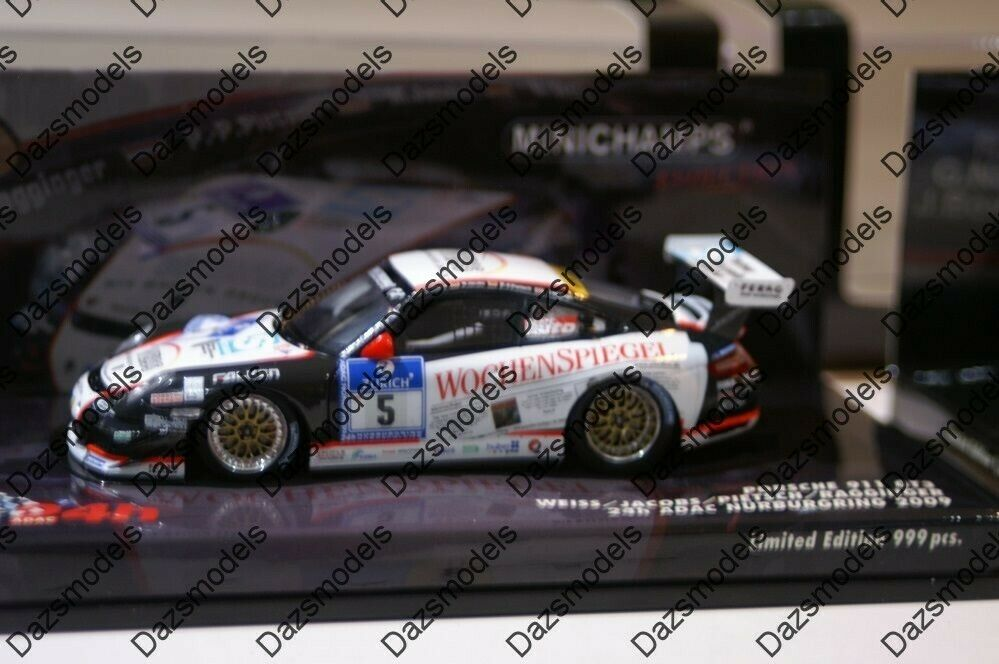 Minichamps Porsche 911 GT3 24h Nurburgring 2009 Weiss 437 096705 096705