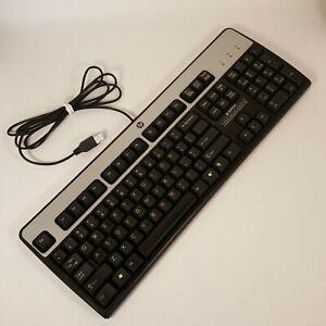 Genuine-HP-Keyboard-Black-Model-KU-0316-USB-Wired-537746-001-Tested-Working