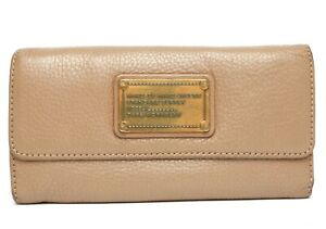 f26f7753b46 Marc By Marc Jacobs Womens Taupe Classic Trifold Leather Wallet 1520 ...