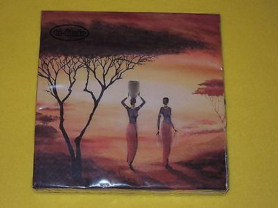 1 Packung 20 Servietten African New Day Frauen Afrika Orange Sonne Baum Mit Einem LangjäHrigen Ruf