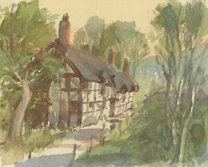 Clifford H. Thompson (1926-2017) - 2007 Watercolour, Cottage in a Landscape