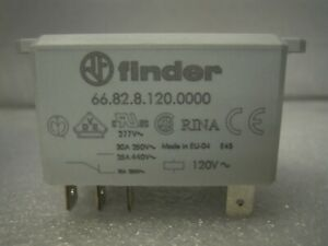 FINDER-66-82-8-120-0000-POWER-RELAY-30A-250V-2CO-DPDT-8PIN-120VAC-COIL-NEW