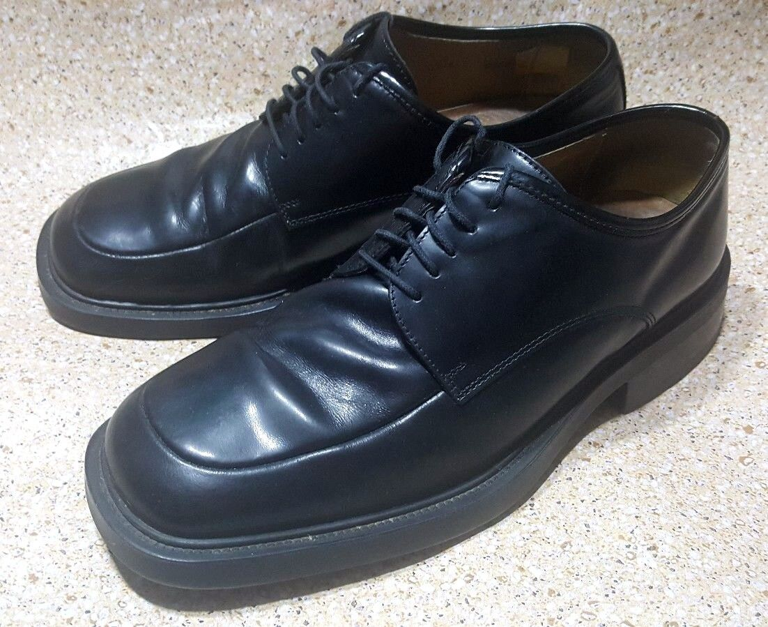 SKECHERS COLLECTION OXFORD BLACK LEATHER LACE UP MENS DRESS SHOES SIZE 10