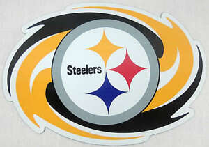 PITTSBURGH-STEELERS-NFL-LICENSED-CAR-TRUCK-MAGNET-BRIGHT-COLORS-BIG-NEW