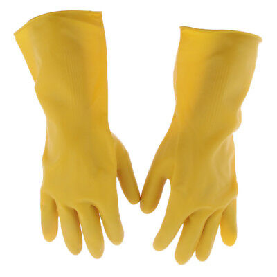 1//2 Pair Arm-Length Rubber Latex Gloves Gauntlets PPE Industrial Anti Chemical