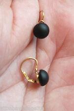Boucles d'oreilles Dormeuses Or 18c & Jais Antique s.gold & jet earrings - lot 2