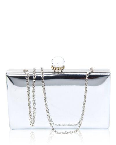 Evening Clutch Handbag Diamante Crystal Shiny wedding hard case Purse For Women
