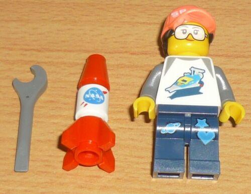 Lego City 1 Raketenwissenschaftlerin mit Zubehör 2 Gesichter