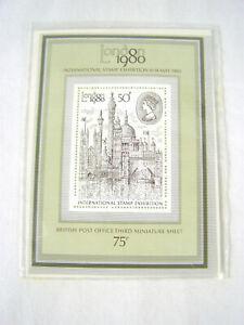 London 1980 International Stamp Exhibition 75p British Post Office Mini Sheet