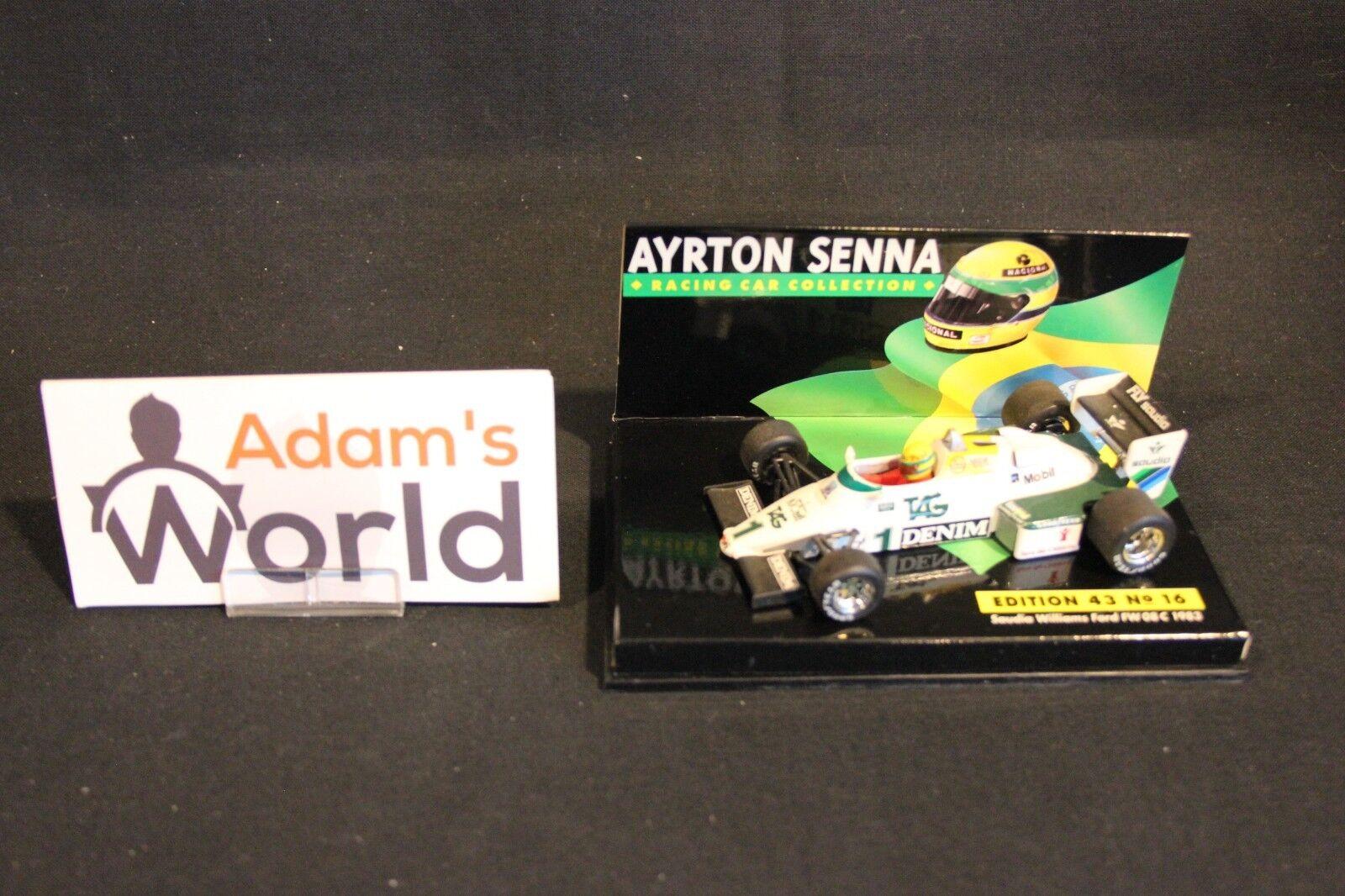 en stock Minichamps Williams Ford Ford Ford FW08C 1983 1 43  1 Ayrton Senna  ASC  16 (MM1)  100% precio garantizado
