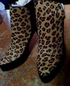 Bout MillerFlorefemme Nicole pointuBottines 6 noirguépard cuir Taille en 5 gY6ybf7v