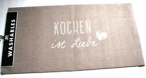 Teppich Läufer Küche Kochen ist Liebe 120 x 60 cm Gift Company | eBay