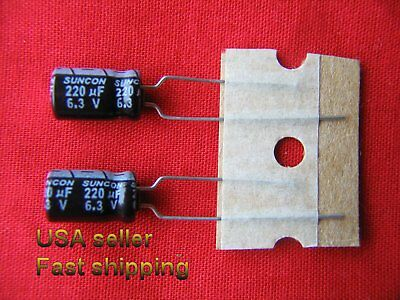 220uF 16V 105C Radial Electrolytic Capacitor 6 x11 Fast same day Shipping